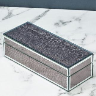 קופסת תכשיטים DIAMOND בטקסטורת נחש