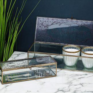 קופסת תכשיטים זהב ומראה-  PRINCESS