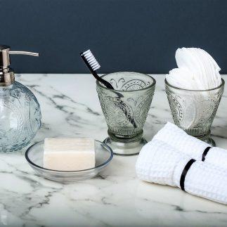סט אמבט זכוכית- 4 חלקים