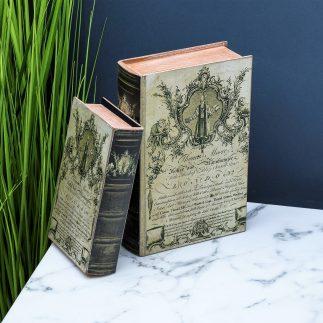 זוג ספרים לנוי ואחסון