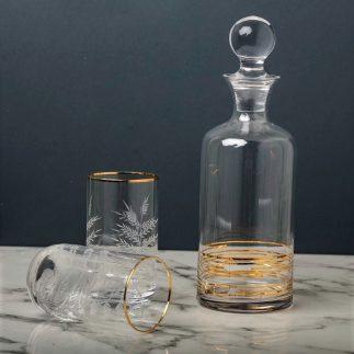 שישיית כוסות גבוהות – פס זהב