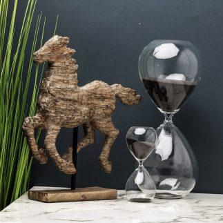 שעון חול – שחור