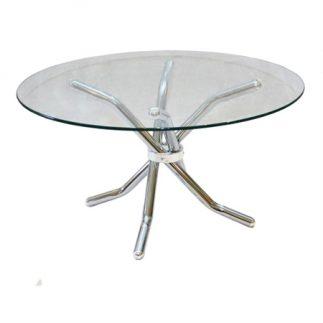 שולחן זכוכית עגול – BELL