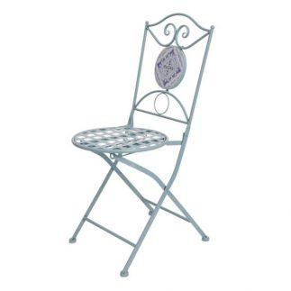 כסא פסיפס בשלושה צבעים