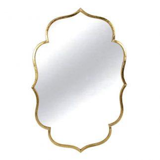 מראה מעוצבת בצבע זהב