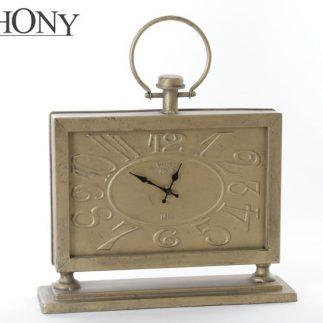 שעון שולחני  SYMPHONY בשני צבעים – זהב/כסף