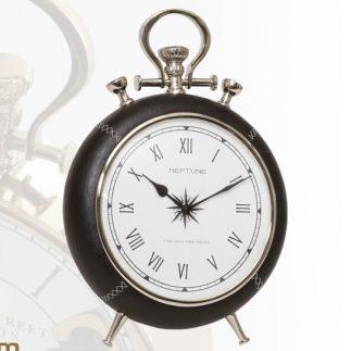 שעון יוקרה שולחני – TOP  זהב- חום / שחור- כסף