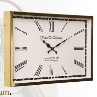 שעון מלבן ענק – WOW בשני צבעים זהב/ כסף
