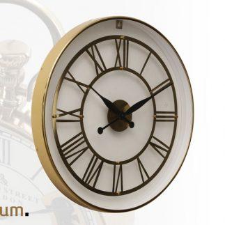 שעון יוקרה לקיר שקוף – BOOST בשני צבעים זהב/כסף