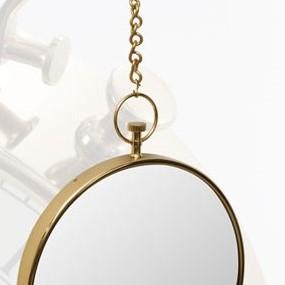 מראת ביג בן נירוסטה + שרשרת – זהב