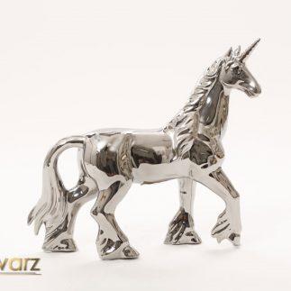 פסל חד קרן – כסף/ לבן