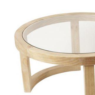 זוג שולחנות עץ לסלון – RUDI