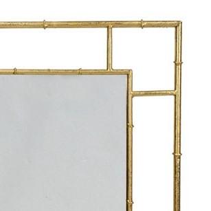 מראה מלבנית מעוצבת – זהב