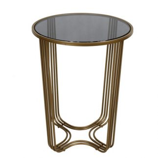 שולחן צד – BINGO שחור/זהב