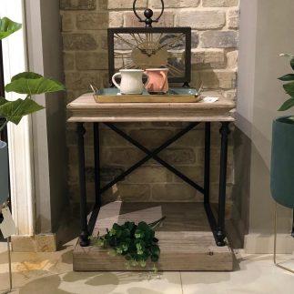 שולחן צד עץ + מתכת – LIA