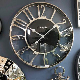 שעון קיר ענק – PREMIUM – זהב/כסף