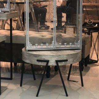 שולחן עץ עגול – GEORGIE
