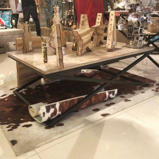 שולחן סלון עץ + מתכת – DARIA