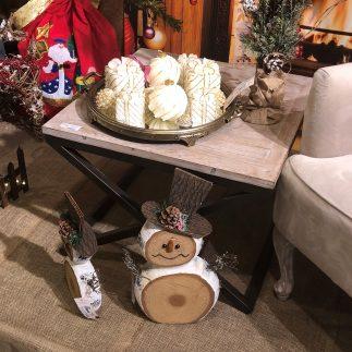 שולחן צד עץ + מתכת – DONNA