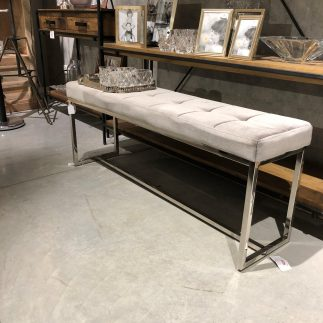 ספסל קטיפה – MONACO  אפור בהיר