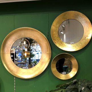 מראה עגולה בצבע זהב – EARING בשלושה גדלים!