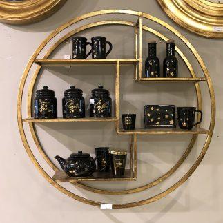 נישה עגולה – MOLI -גודל בינוני זהב/שחור