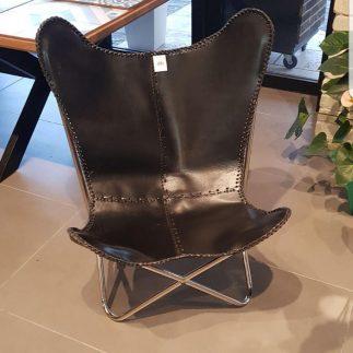כסא עור אוכף שחור – COWBOY