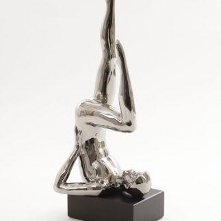 פסל – YOGA – זהב/כסף