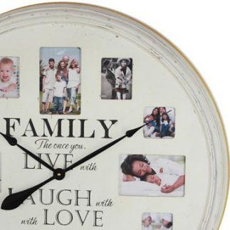 שעון קיר עץ ענק + מסגרת לתמונות