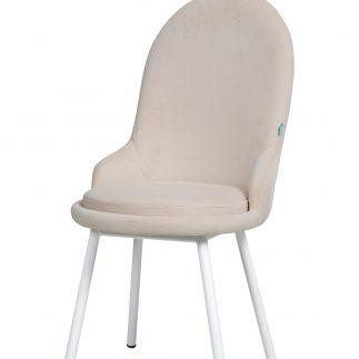 כיסא קטיפה  – ANGEL – לבן