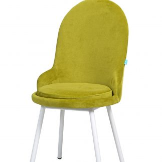 כיסא קטיפה – ANGEL – ירוק בהיר