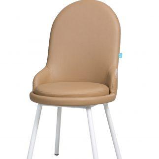 כיסא דמוי עור  – ANGEL  – קפוצ'ינו