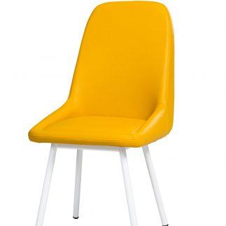 כיסא דמוי עור FAIRY –  חרדל