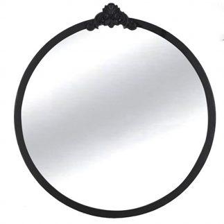 מראת מתכת עגולה בצבע שחור