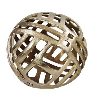 כדור מתכת דקורטיבי זהב/ כסף בשני גדלים