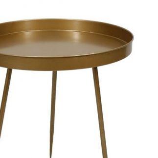 שולחן צד עגול – TRAY – זהב