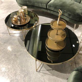 שולחן סלון – BLACK MIRROR  גדול/בינוני