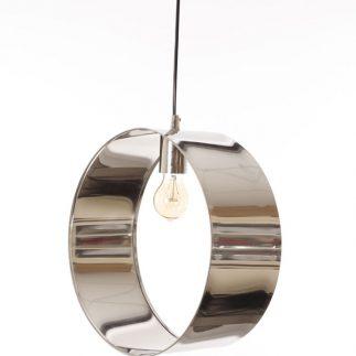 מנורת תקרה – LOOP בשלושה גדלים זהב/כסף