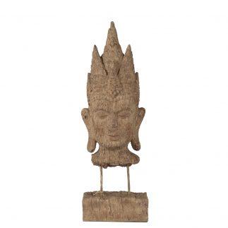 פסל ראש בודהה על מעמד