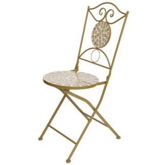 כיסא פסיפס חרדל