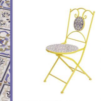 כיסא פסיפס צהוב