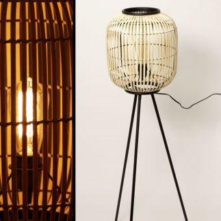 מנורת במבוק עומדת בצבע טבעי בשני גדלים