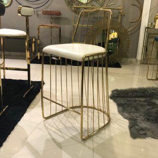 כיסא בר – STAR – לבן