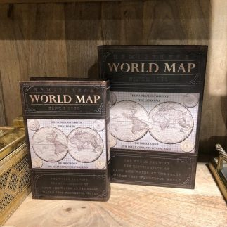 זוג קופסאות ספרים לאחסון ונוי – WORLD MAP