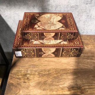זוג קופסאות ספרים לאחסון ונוי – ATLAS