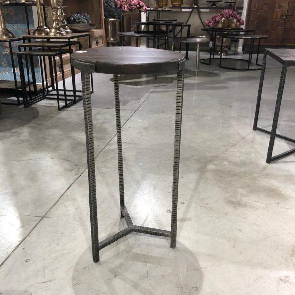 שולחן צד עגול - DARK WOOD