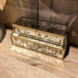 זוג קופסאות תכשיטים מלבניות – SPRING כסוף