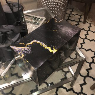 קופסת תכשיטים – BLACK MARBLE