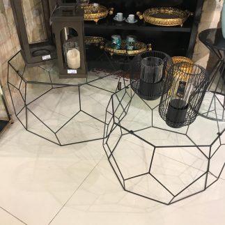 זוג שולחנות סלון – GEO שחור