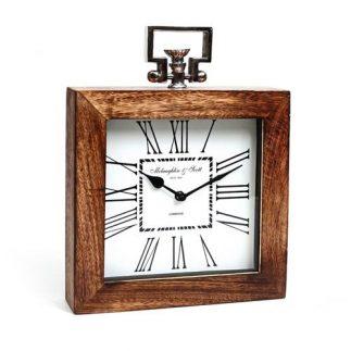 שעון מסגרת עץ – מרובע